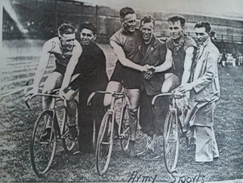 Alo Donegan, second right, competing in Croke Park circa 1930