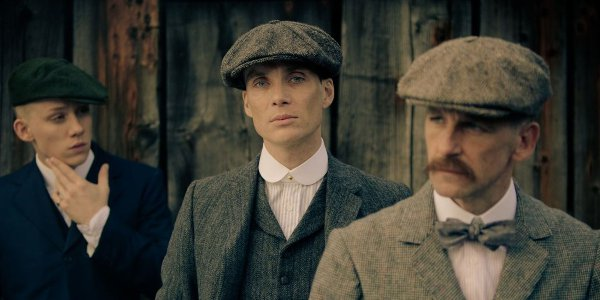 Cillian Murphy (centre) and Paul Anderson (right) in 'Peaky Blinders'.