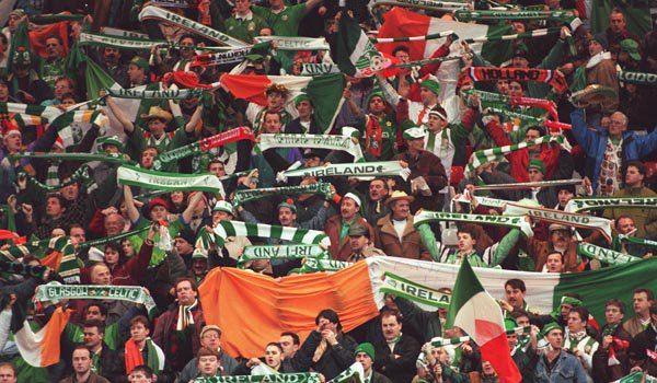 Ireland v Holland at Anfield in 1995