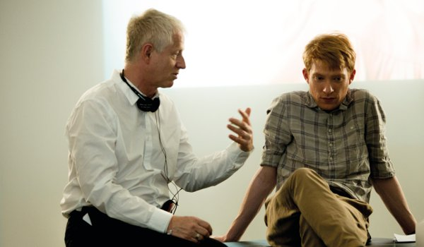 Domhnall Gleeson on the set of 'About Time' with Richard Curtis