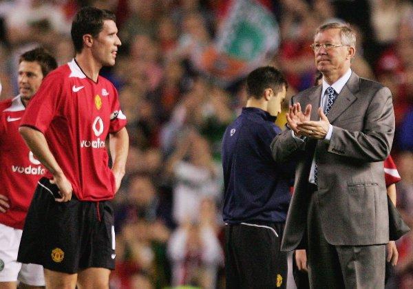 Keane on the night of his testimonial with Ferguson