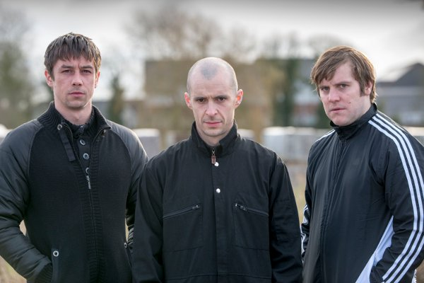 Love/Hate Series 4Killian Scott as Tommy, Tom Vaughan-Lawlor as Nidge and Peter Coonan as Fran