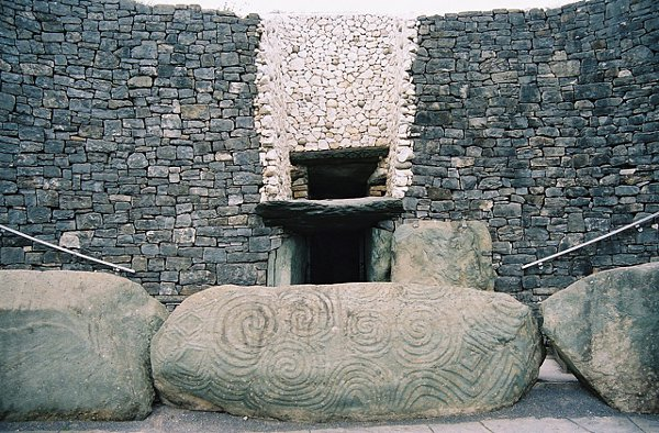 The entrance at Newgrange - home of the world's oldest Moon map