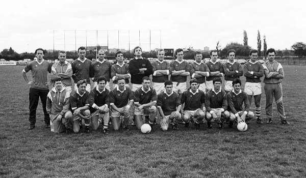 Naomh Mhuire line out before the 1992 SFC semi-final replay