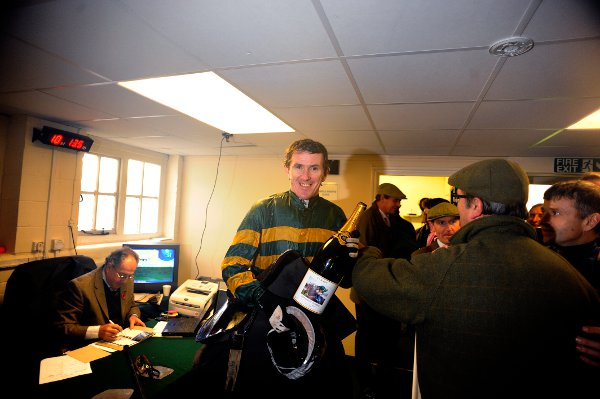 AP McCoy weighs in after his 40000 victory. Photo by Alan Crowhurst/Getty Images