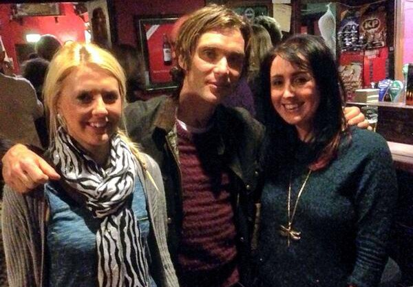 Cillian Murphy with fans in Westmeath