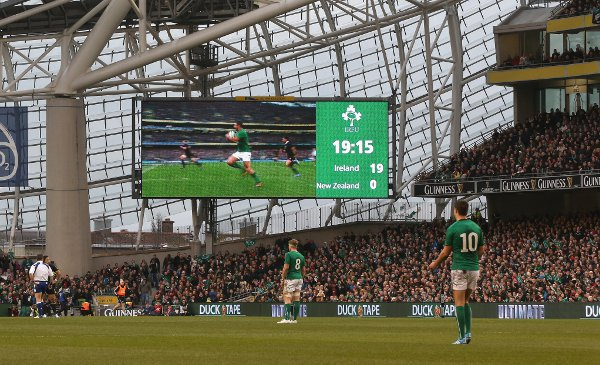 Ireland had amassed a stunning 19-0 lead in the first half. Photo: Getty Images