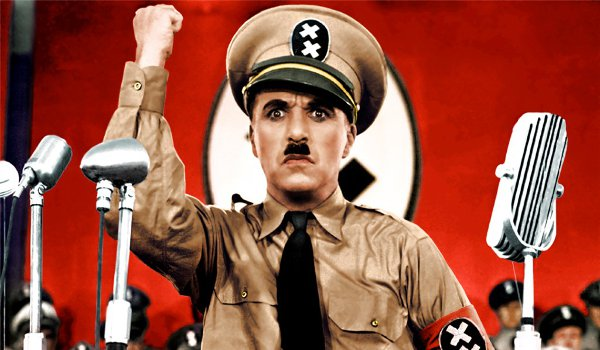 Charlie Chaplin's The Great Dictator (1940) was one of the first films to show the repressive nature of Hitler's Third Reich