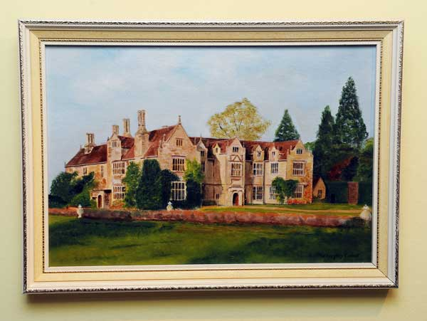 A painting of the residence where James served as a butler