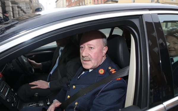 Garda Commissioner Martin Callinan arrive at Leinster House ahead of the Public Accounts Committee meeting