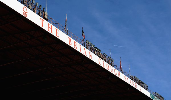 The Brian Clough Stand at the Nottingham Forest FC ground
