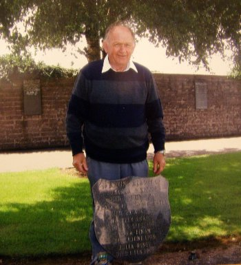 Fred visited his mother's grave in Cork last year