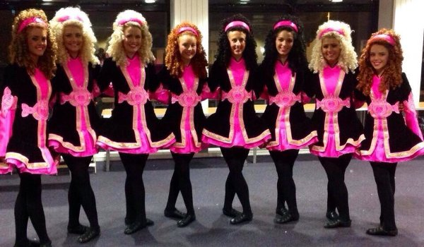 The Osborne Academy dance group - Mairead fifth from left