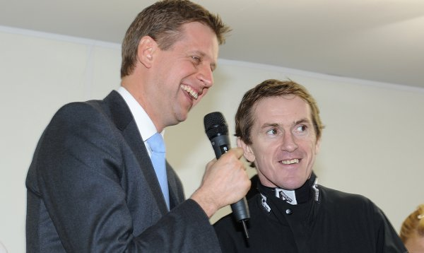 Ap McCoy taking part in a Q&A before his first race