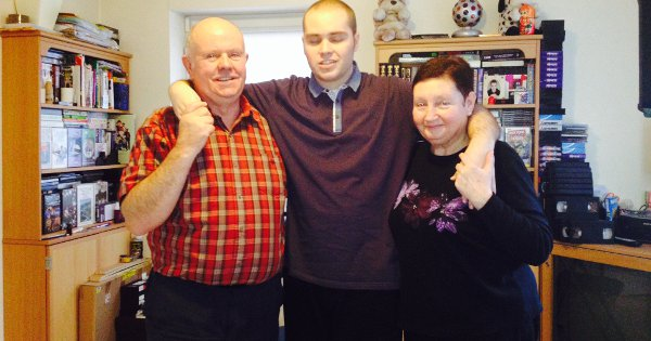 Martin Finn with his father John and mother Norma