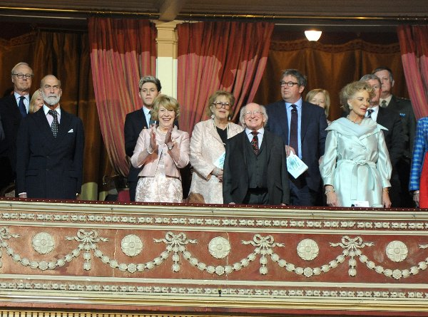 Niall Horan was sat among Irish and British politicians, the President and members of the Royal family
