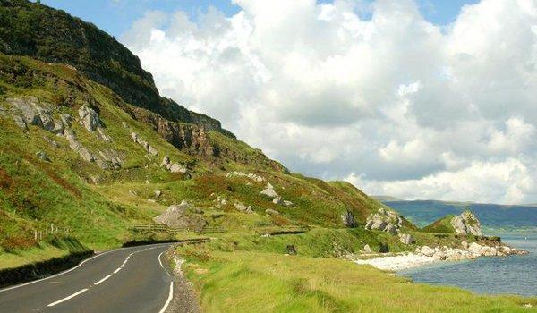The Antrim coast road near Ballygally