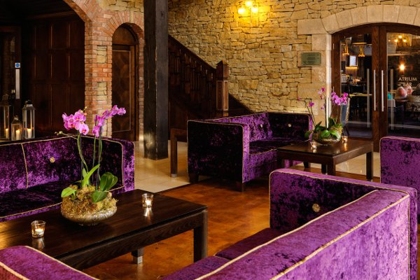 Some of the spacious bar and seating areas in the hotel