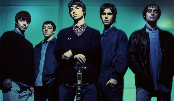 From L to r: Guigsy, Tony McCarroll, Noel and Liam Gallagher and Bonehead, who was one of the founding members of Oasis