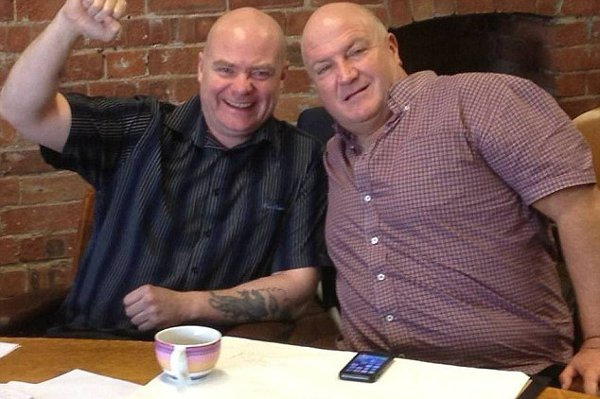Steve Hedley, left, with the late Bob Crow