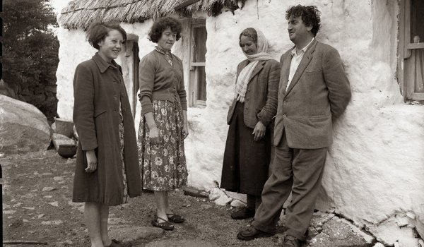 Behan with Beatrice (right) in 1959