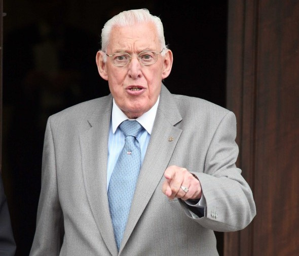 In 2007 Northern Ireland First Minister, the Rev Ian Paisley accused the Irish government of provoking the Dublin and Monaghan bombings in 1974 in which 33 people were killed. He is pictured here at Parliament Buildings, Stormont (Belfast), before the arriving of British Prime Minister. (Photo: Albert Gonzalez / Photocall Ireland)
