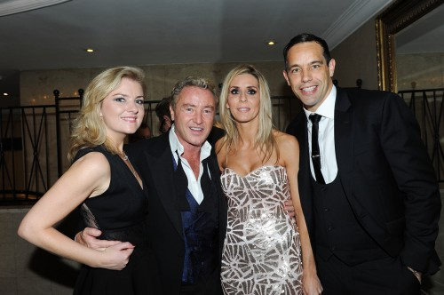 Niamh and Michael Flatley with Ireland goalkeeper David Forde and guest. Picture by Malcolm McNally