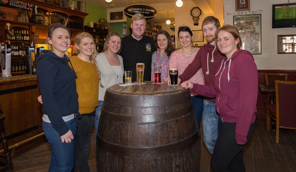 Coventry University's first GAA team is sponsored by The Four Provinces pub in Chapelfield (Photo Chris Egan)