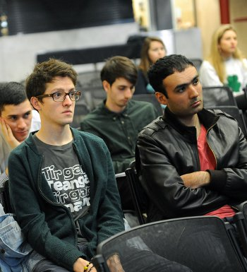LSE students and members of the public  attended the panel discussion event (Photo Mal McNally)