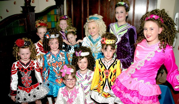 Young dancers from the McLaughlin School of Irish Dancing in Manchester also took to the stage on Friday night