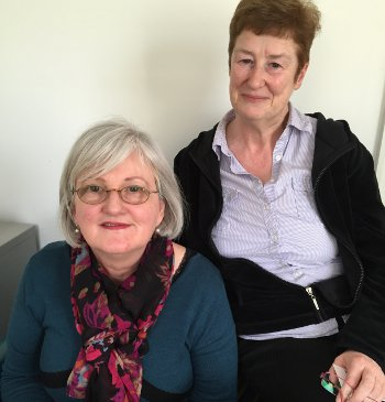 Mary Lodato (left) with Marian Larragy, coordinator of the Irish Women Group at the West Hampstead Women's Centre