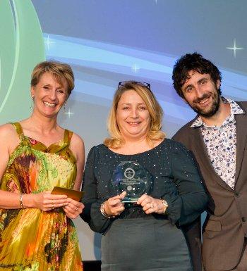 Caroline O'Donovan collected the O'Donovan Waste Disposal award in Birmingham