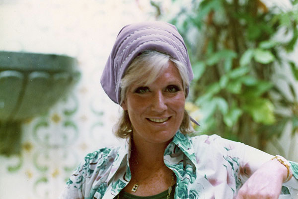 At Billie Jean King's condo in Eleuthera, Bahamas in 1974 (Photo: Sue Cameron)