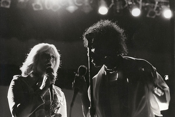 Dusty on stage with Patti Labelle, a moment of delight in the dark times of the 1970s (Photo: Sue Cameron)
