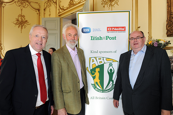 Martin McAviney, President of Ulster GAA, Tom Conneely from the London County Board and Karl McGuigan, PRO of the Provincial Council of Britain. Photo - Malcolm McNally