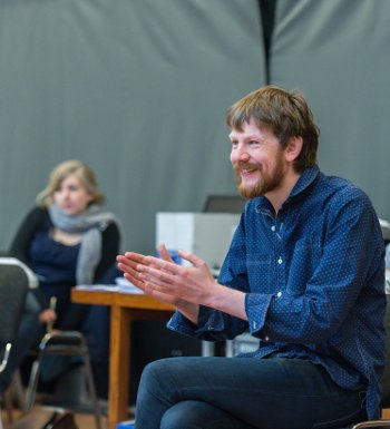 Director Simon Godwin is directing Beamish in The Beaux' Stratagem, which opened at the National Theatre this week