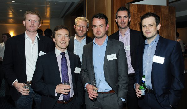 Seamus Carey, James Donlon, Ed Barrett, Killian Harrington, Alan Hannify and Brian Coughlan, of the London Irish Town Planners group, are regular attendees of TLICN events in the capital (Photo Mal McNally)