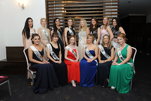 The 14  lovely Roses taking part in this evenings London Rose of Tralee selection evening. Photo - Malcolm McNally