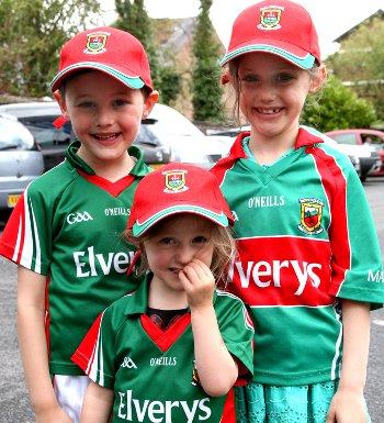 Siblings Cillian, Mairéad and Grace Regan enjoyed Mayo Day at the Chorlton Irish Club (Photo Danny Claffey)
