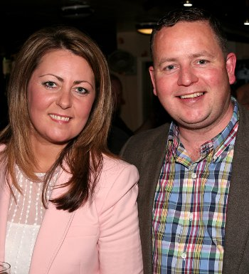 St Kentigern's' Kevin Fitzpatrick, pictured here with wife Tina, has been manager at the club since 2002