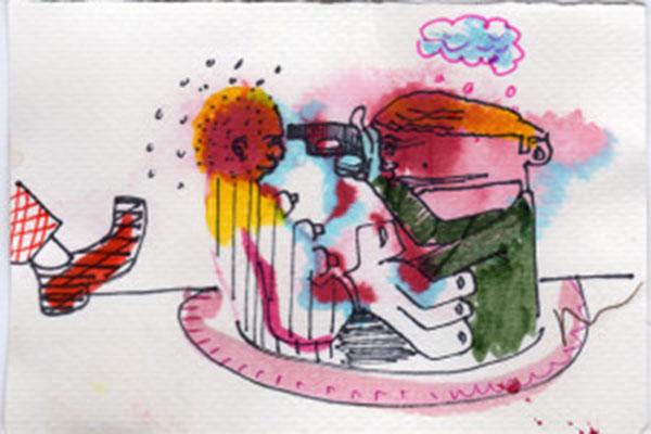 One of Moran's disturbing drawings
