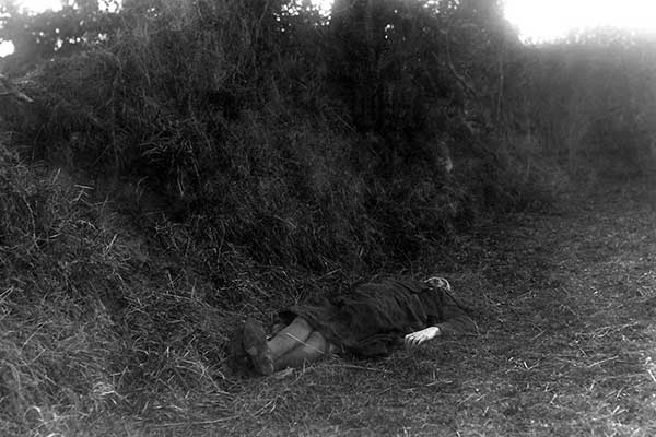 The body of murdered Mary 'Moll' McCarthy