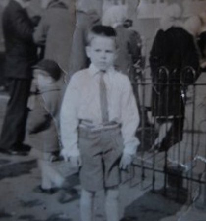 Tommy as a boy in Manchester.