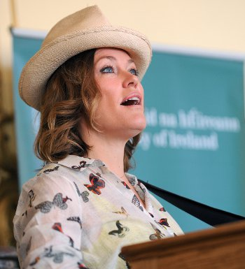 Welsh singer Cerys Matthews performed at the  Irish Embassy event
