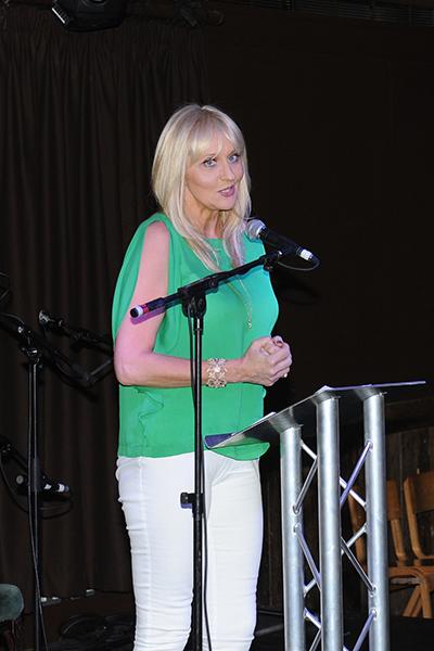 Host for the night RTE TV presenter Miriam O'Callaghan. Photo - Malcolm McNally