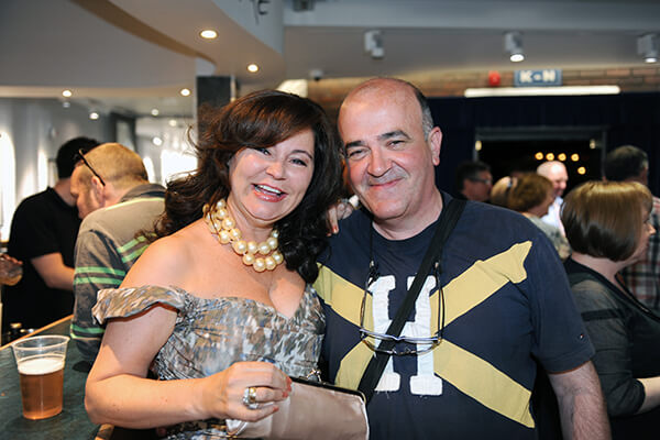 Musicians Noreen Cullen and Paul Gallagher enjoying the night. Photo - Malcolm McNally