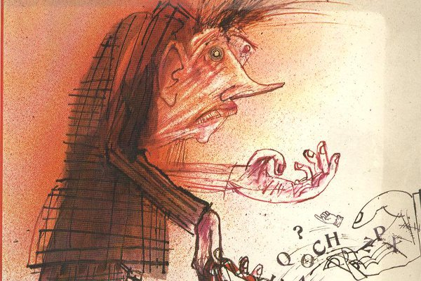 Sebastian Barker's 1979 book, Who is Eddie Linden? was illustrated by Ralph Steadman.