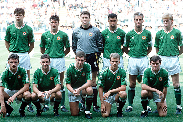 The Ireland team before the game