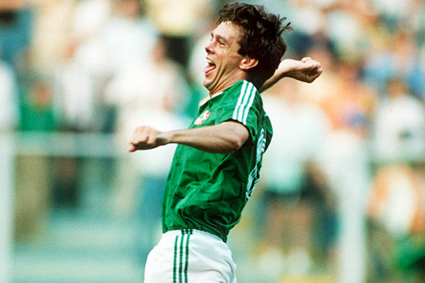 O'Leary celebrates his winning penalty