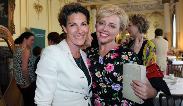 Tamsin Greig and Angeline Ball were among celebs celebrating Yeats and Joyce yesterday
